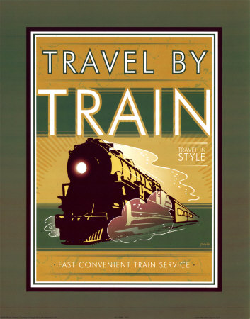 train-travel-poster